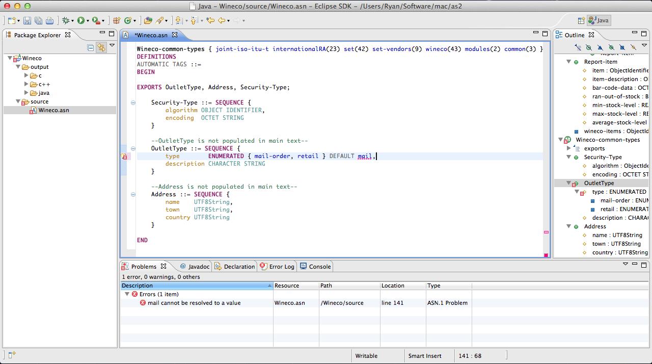 ASN 1 Development Tools